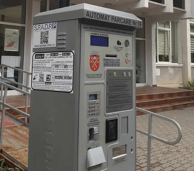 Toate automatele de parcare din Sibiu au fost echipate cu dispozitive de plată cu cardul contactless și NFC