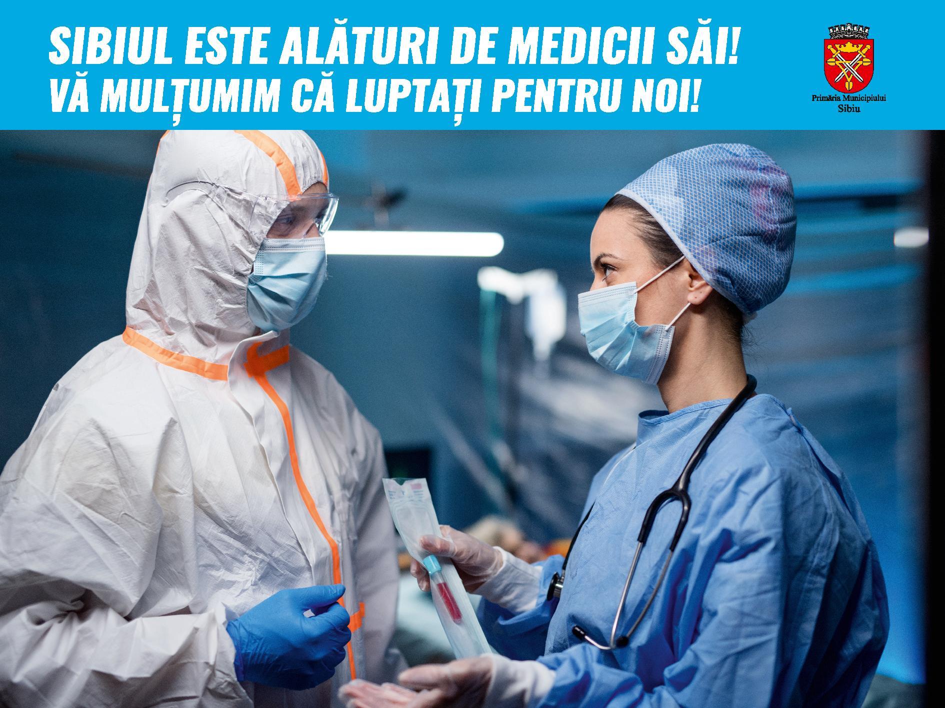Primăria Sibiu menține gratuitatea la parcare pentru personalul medico-sanitar din Sibiu