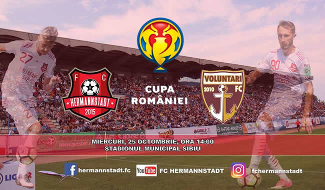 Meci de fotbal - Teren principal: FC HERMANNSTADT - FC VOLUNTARI