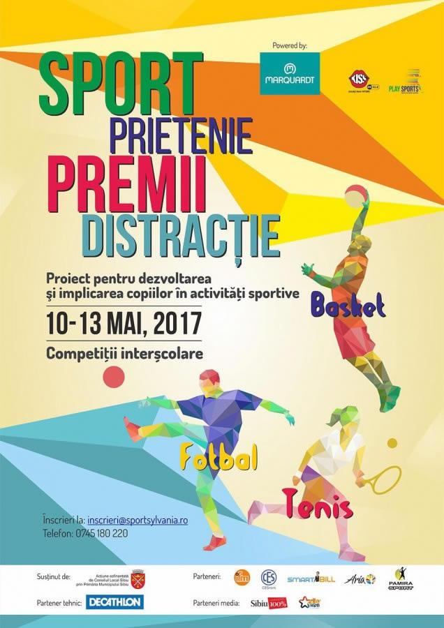 Sport pentru copiii din Scoli si Licee, competitia  inter-scoli la fotbal, baschet si tenis