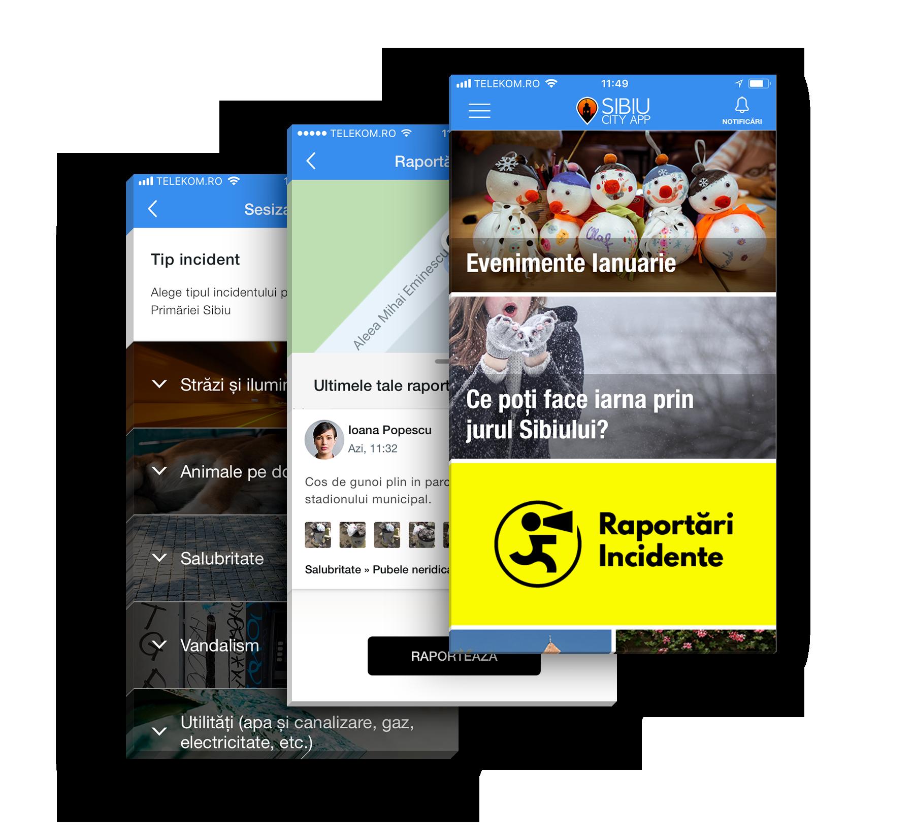 Sibiu City App se extinde cu un modul dedicat sibienilor: raportarea problemelor din oraș